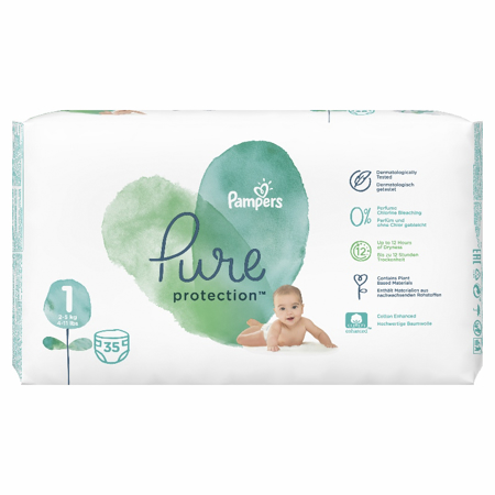 Slika za Pampers® Pelene Pampers Pure Protection veličine 1 (2-5 kg) 35 komada