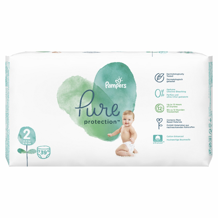 Slika za Pampers® Pleničke Pampers Pure Protection vel. 2 (4-8 kg) 39 kosov