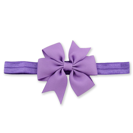 Elastična traka s mašnom Purple
