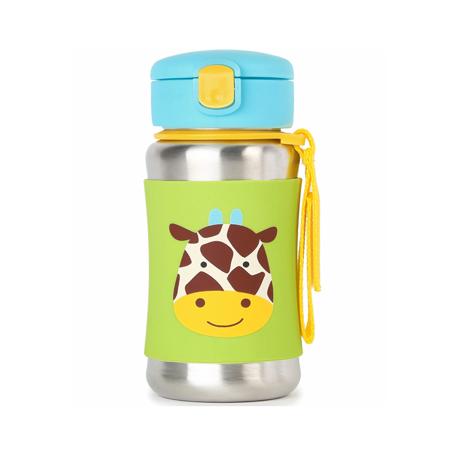 Slika za Skip Hop® Steklenička iz nerjavečega jekla s slamico Žirafa