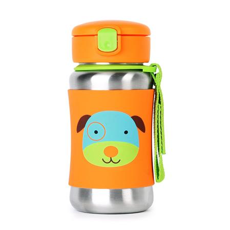 Slika za Skip Hop® Steklenička iz nerjavečega jekla s slamico Kužek