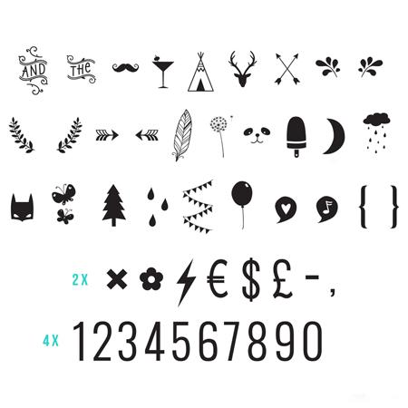 Slika za A Little Lovely Company® Lightbox različni seti črk