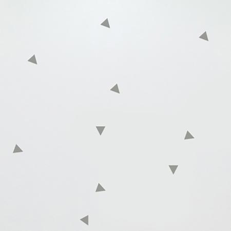 Pick Art Design® Stenske nalepke Trikotniki Siva