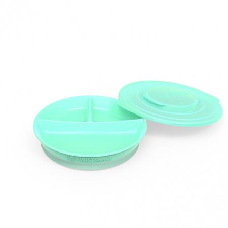 Twistshake® Podjeljeni tanjurić 210ml+2x90ml (6+m)