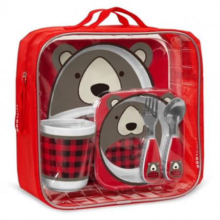 Skip Hop® Zimski darilni set za hranjenje Medvedek