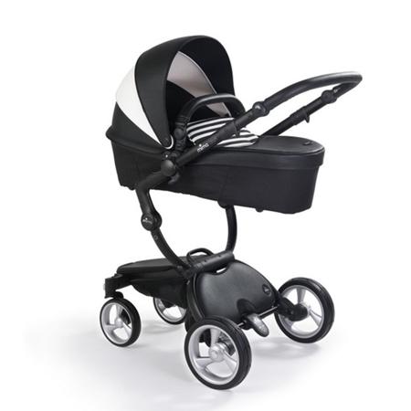 Mima® Dječja  kolica s košarom 2u1 Xari Black & White + Starter pack