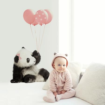 Slika za Dekornik® Stenska nalepka Pink Panda