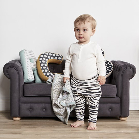 Kids Concept® Otroška Zofa Chestefield Dark Grey