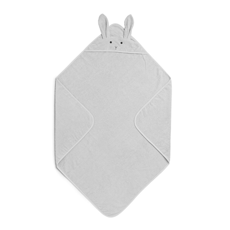 Liewood® Ručnik s kapom Rabbit Grey Junior 100x100