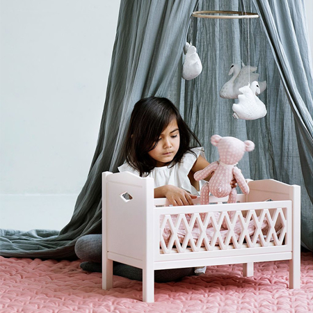 Slika za CamCam® Posteljica za lutke Harlequin Doll's Bed Blossom Pink
