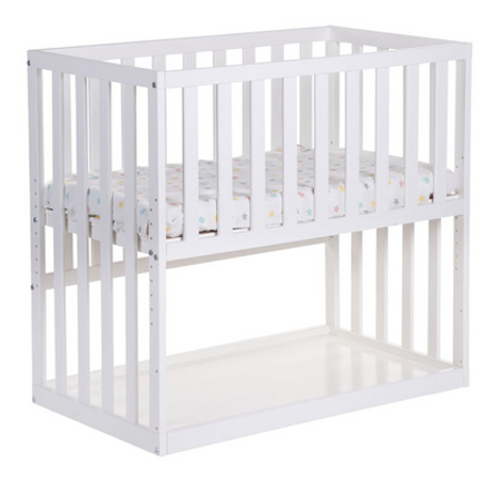 Slika za Childhome® Otroška postelja na koleščkih Beech white 50x90