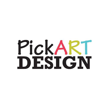 Pick Art Design® Stenske nalepke Srčki Pastelno Roza