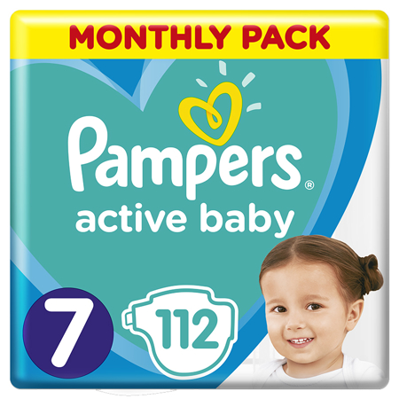 Pampers® Pelene Active Baby MP Dry vel. 7 (15+ kg) 112 komada