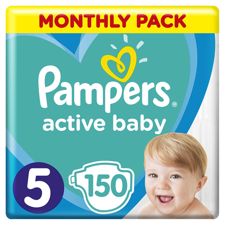 Slika za Pampers® Pleničke Active Baby Dry MP vel. 5 (11-16 kg) 150 kosov