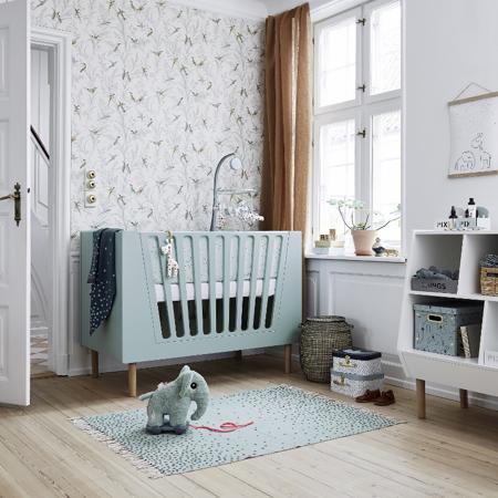 Slika za Done by Deer® Obroba za otroško posteljico Dreamy Dots White 350x30