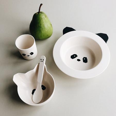 Liewood® Set za jelo iz bambusovih vlakana Baby Panda
