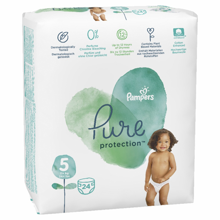 Slika za Pampers® Pleničke Pampers Pure Protection vel. 5 (11+ kg) 24 kosov