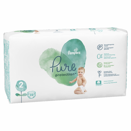 Pampers® Pelene Pampers Pure Protection veličine 2 (4-8 kg) 39 komada