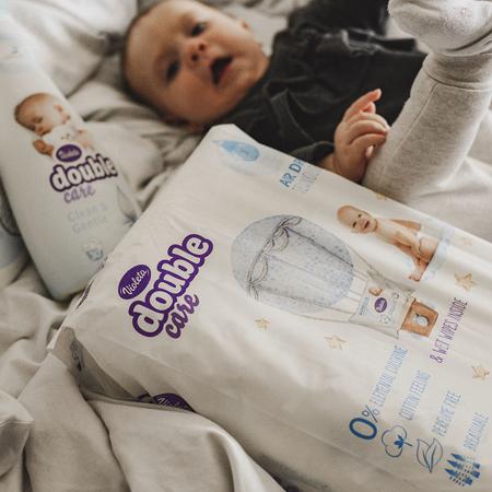 Violeta® Double Care Cotton Touch Junior+ (16+ kg) 32 komada + Poklon lažne maramice Water Care