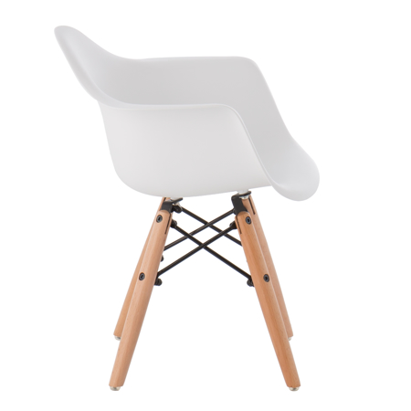 EM Furniture Eiffel Dječja stolica Arm White