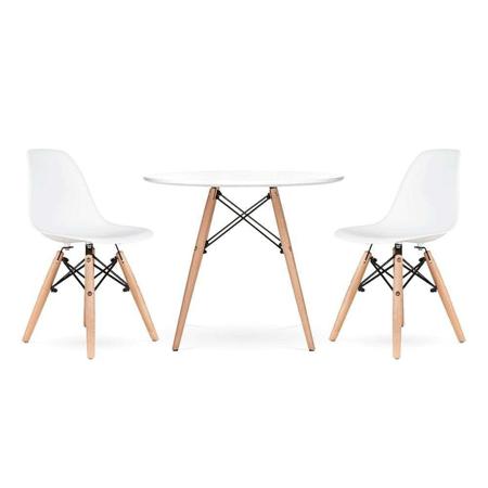 Slika za EM Furniture Set stolića i dvije stolice White