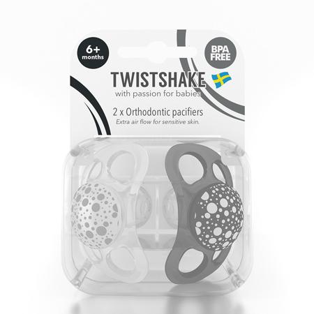 Twistshake® 2x Duda Black&White (0+/6+) - 6+M