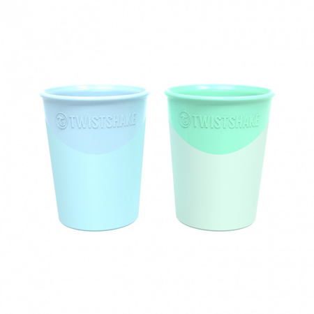 Twistshake® 2x Čaše Pastel Blue&Green 170ml (6+m)