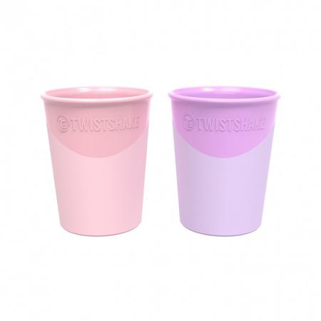 Twistshake® 2x Čaše Pastel Pink&Purple 170ml (6+m)
