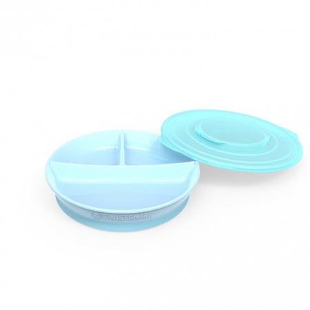 Slika za Twistshake® Podijeljeni tanjurić 210ml+2x90ml (6+m) - Pastel Blue