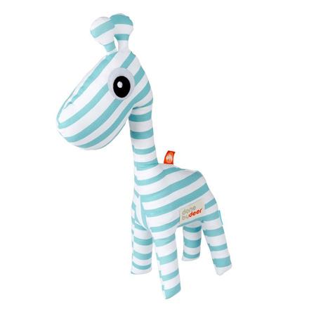 Done by Deer® Aktivnostna ropotuljica žirafa Raffi - Svetlo Modra