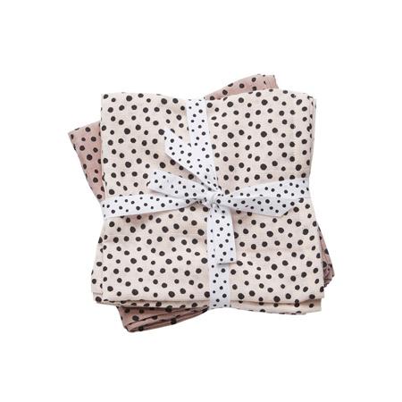 Done by Deer® Komplet 2 pelene za povijanje Happy Dots 120x120 - Svijetlo ružičasta
