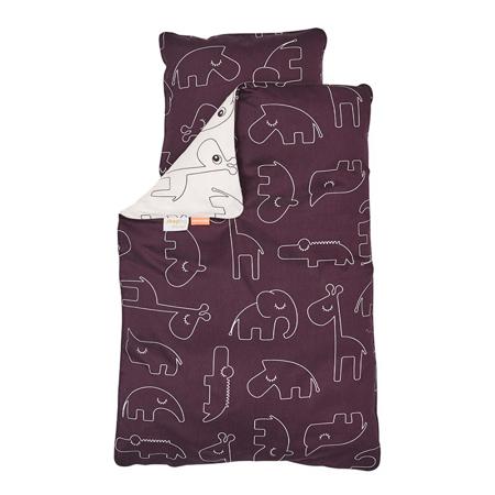 Done by Deer®  Posteljina Sleepy Tamno ružičasta - 70x100; 40x45