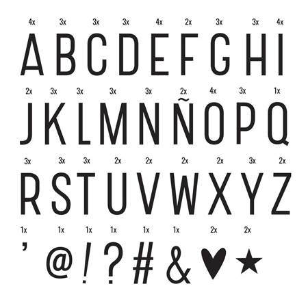 A Little Lovely Company® Lightbox različiti setovi brojeva - Basic
