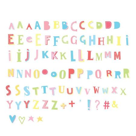 A Little Lovely Company® Lightbox različiti setovi brojeva - Funky colour