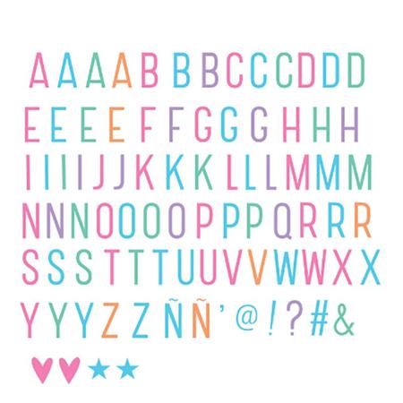 A Little Lovely Company® Lightbox različiti setovi slova - Pastel