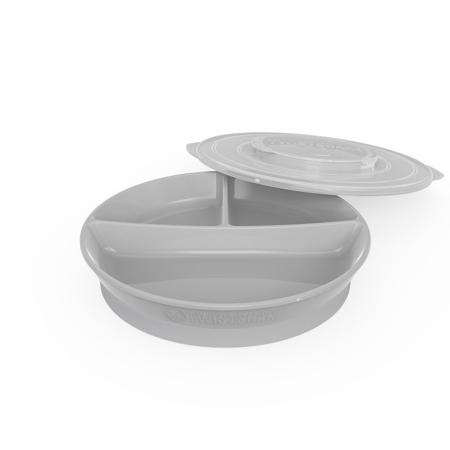 Slika za Twistshake® Podijeljeni tanjurić  210ml+2x90ml (6+m) - Grey