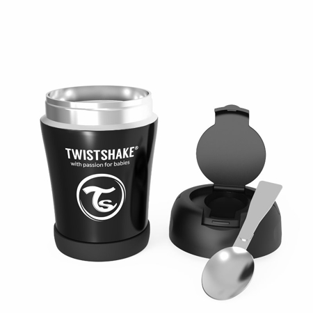 Twistshake® Termo posudica za hranu 350ml Black