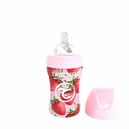 Slika za Twistshake® Bočica od nehrđajućeg čelika Anti-Colic 260ml Strawberry