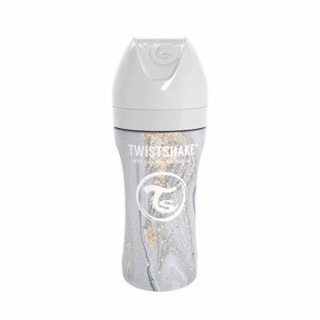 Slika za Twistshake® Bočica od nehrđajućeg čelika  Anti-Colic 330ml Marble Grey