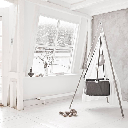 Slika za Leander® Otroška viseča zibelka (brez stojala) Grey