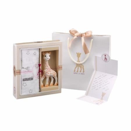 Slika za Vulli® Poklon pakovanje Žirafa Sophie s tetra pelenom Sophiesticated