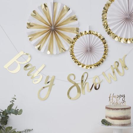Slika za  Ginger Ray® Viseći zlatni natpis Baby Shower