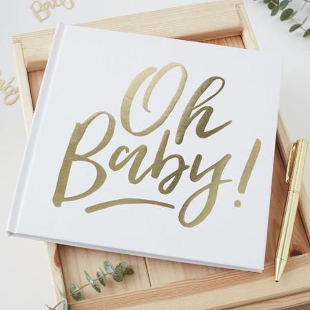 Slika za Ginger Ray® Knjiga uspomena za goste Oh Baby!