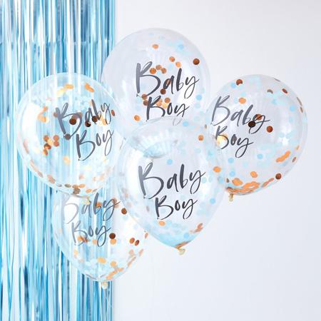 Slika za Ginger Ray® Baloni s konfeti Baby Boy Twinkle Twinkle 5 kosov