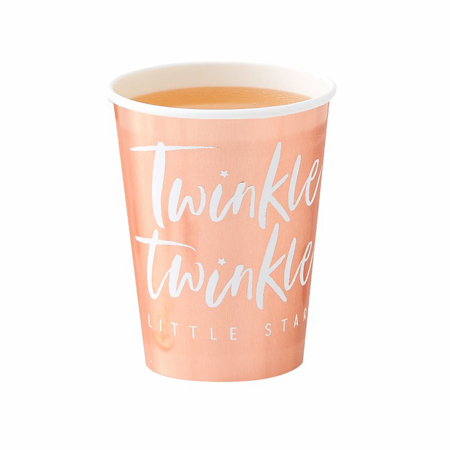 Ginger Ray® Rose Gold papirnate čašice Twinkle Twinkle 8 komada