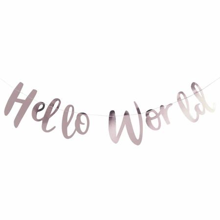 Slika za Ginger Ray® Viseč zlati napis Hello World