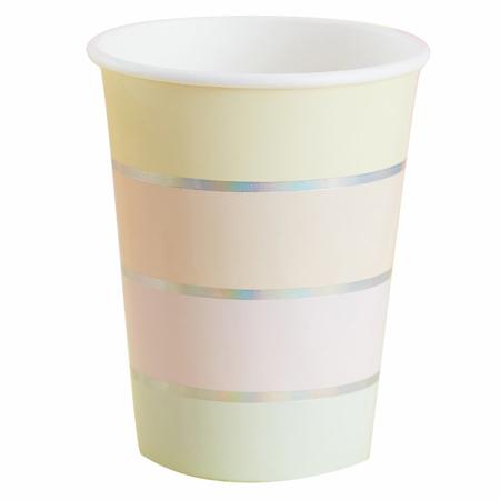 Ginger Ray® Pastelne papirnate čašice Pastel Party 8 komada