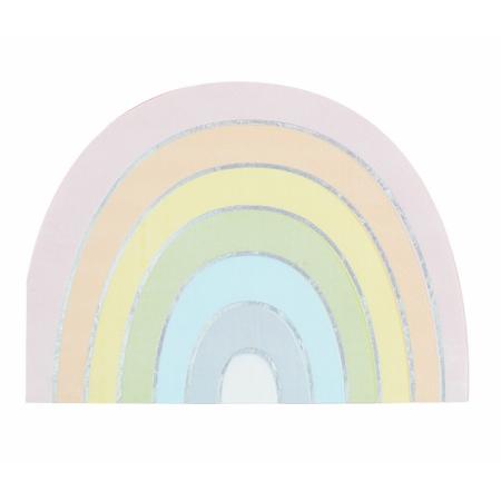 Ginger Ray® Rainbow papirnate salvete Pastel Party 16 komada