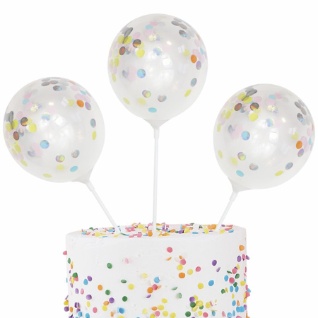 Ginger Ray® Ukrasni baloni za tortu Pastel Party 5 komada