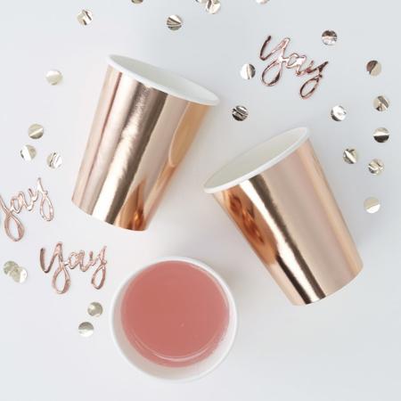 Slika za Ginger Ray® Papirnate čašice Rose Gold 8 komada
